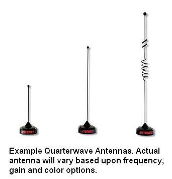 QWBFT120 - Antenex Field Tunable Quarterwave Antenna (118-970MHz, 0dB Gain, Black)