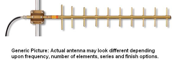 Y1505 - Antenex Professional Grade Gold Anodized 150-174Mhz 5 Element 9.2dBd Yagi Antenna