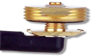 MABTO: Antenex 3/4 or 3/8 Hole Brass NMO Thick Plate Mount for 3/16 to 1/4 thick surfaces (Cable, Connector not Included)