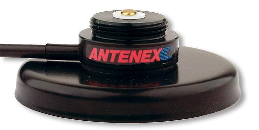 GB8USMI: Antenex/Laird Technologies 3/4 Style Magnetic Mount Base (No Rubber Boot) with 12 RG58U Cable, SMA/Male Crimp (Installed)