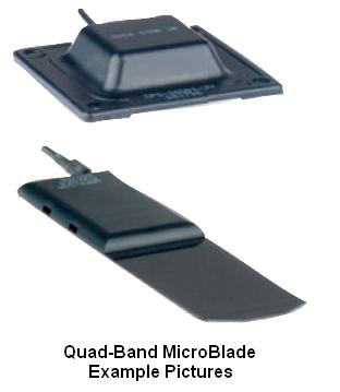 Microblade1W - Quad-Band MicroBlade Waterproof Antenna, AMPS/GSM/DCS/PCS (No GPS)